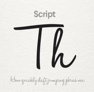 Script font (Source: 99designs)
