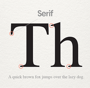 Serif font (Source: 99designs)