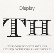 Display font (Source: 99designs)