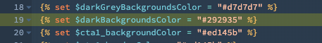 Dark color variable