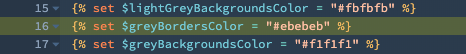 Grey borders color variable
