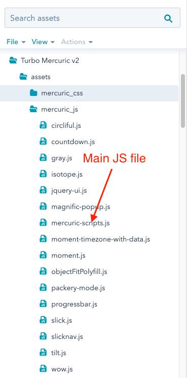 JS assets location